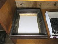 Lot: Victorian Frame, O/C, Beaded Purse,