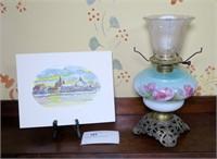 """Antique Lamp & 8.5"""" x 11"""" Seneca Falls, NY"""