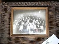 "8"" x 10"" Vintage Framed class photo"