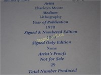 Limited Edition Charleyn Moore Prints, Signed