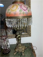 Antique Cherub Banquet Lamp