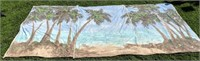 Beach and Palm Tree Back Drop 11' x 8'