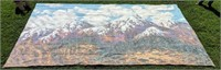 Snow Capped Mountains Back Drop12' x 20'