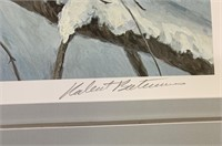 "Robert Bateman Ltd Edition ""Cougar in The Snow"""