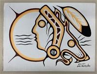 Original Bart Meekis 1982 Acrylic on Canvas