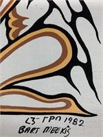 Original Bart Meekis 1983 Acrylic on Canvas