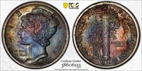 High Grade PCGS & NGC Rainbow Toned Coin/Currency Auction
