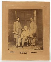 Rare Matthew Brady image of Robert E. Lee and staff