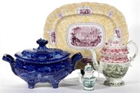 Large selection of Transferware from the Dunn Collection