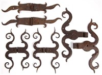 From the early iron collection of the late James C. Leonard, Jamestown, NC