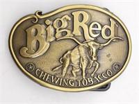 """Big Red Chewing Tobacco Belt Buckle 3"""""""