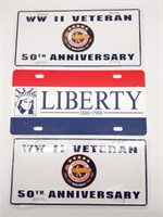 WWII Veteran Tags and Liberty Insurance Tag