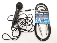 Guitar Cable and Samson Microphone