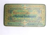 Tin for One Dozen Mainsprings For Hamilton