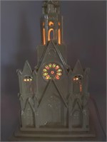 Ceramic Chapel Light, Wood Chapel Music Box, and