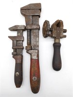 Antique Clamp and (2) Monkey Wrenches - Lamson