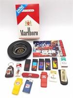 BF Goodrich Tire Ashtray, Marlboro Lighters,