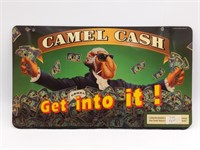 "Camel Cash Sign 1993 17.5"" x 10""  and Camel"