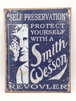 """Smith & Wesson Metal Sign (Reproduction) 12.5"""" x"""