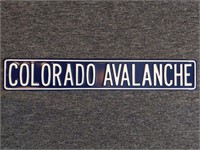 Colorado Avalanche Metal Sign 36""
