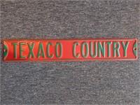 "Texaco County Metal Sign 36"""