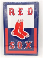 "Red Sox Metal Sign 12"" x 18"""