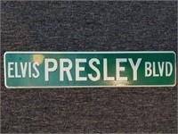 """Elvis Presley Blvd Metal Sign 24"""""""