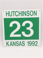 "1992 Hutchinson, Kansas '23' Metal Sign 12"" x 12"""