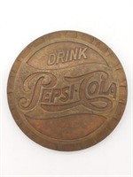 "Pepsi-Cola Brass Belt Buckle 3"""