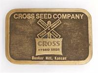 "Cross Seed Company Bunker Hill, Kansas 3.25"" -"