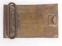 Playboy Mansion Doorplate Replica Brass Belt