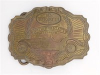 "Bugatti Belt Buckle 4"" and Novelty License Plate"