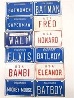 """Vintage Miniature License Plates 4"""""""