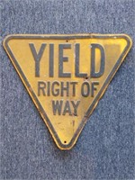 "Yield Right of Way Metal Sign 27"" x 24"""