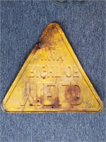 """Yield Right of Way Metal Sign 27"""" x 24"""""""