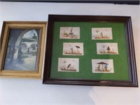 "Framed Paintings and Print 22.5"" x 18.5"" and"