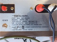 Realistic MPA-20 Solid State P.A. Amplifier (when