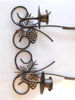 """Metal Hanging Candlesticks 16"""""""