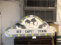 RED CARPET EVENING SIGN