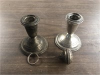 WEIGHTED STERLING CANDLESTICKS