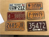 LOT OF 6 LICENSE PLATES