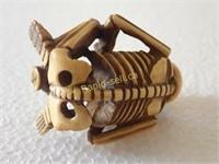 Netsuke Skeleton - Signed