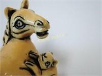 Signed Netsuke - Horse & Rat
