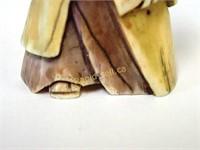 Signed Netsuke - Robed Figure