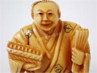 Signed Netsuke - Man in Kimono