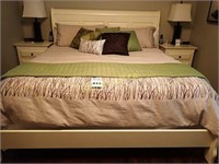 Country King Size Sleigh Bed