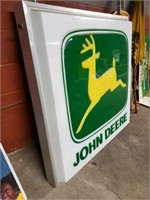 Lighted John Deere Sign w/Hangers