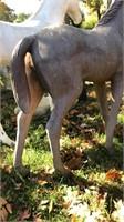 Fiberglass horse, 4' tall