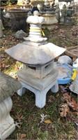 """Large Japanese lantern, 31"""" tall concrete"""