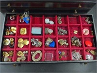 Misc. Lot of Costume Jewelry in Chest